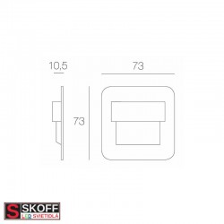 SKOFF SALSA STICK LED Svietidlo 0,8W 3000K MOSADZNÉ 10V/DC IP66