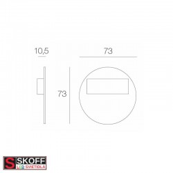 SKOFF RUEDA MINI SHORT LED Svietidlo 0,4W 3000K NEREZ 10V/DC IP66