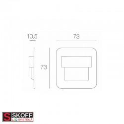 SKOFF SALSA LED Svietidlo 0,8W 4000K MOSADZNÉ 10V/DC IP66