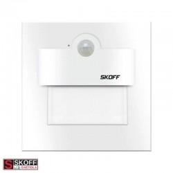 SKOFF TANGO Senzorové LED svietidlo 2,4W 4000K BIELE 230V/AC PIR 120º IP20