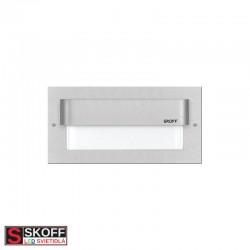SKOFF TANGO MAX LED Svietidlo 1,6W 3000K HLINÍK 10V/DC IP66