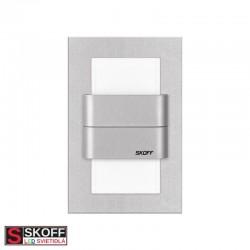 SKOFF DUO TANGO LED Svietidlo 1,6W MODRÁ HLINÍK 10V/DC IP66