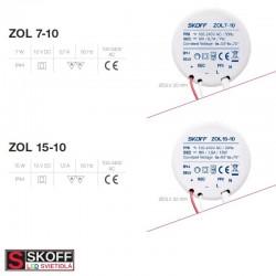 SKOFF LED Transformátor ZOL15 15W 100-240V/AC 10V/DC 50HZ 1,5A IP20