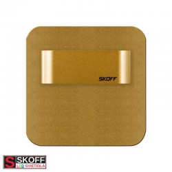 SKOFF SALSA SHORT LED Svietidlo 0,8W 3000K MOSADZNÉ 10V/DC IP20