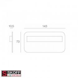 SKOFF SALSA MAX SHORT LED Svietidlo 1,6W 4000K MOSADZNÉ 10V/DC IP20
