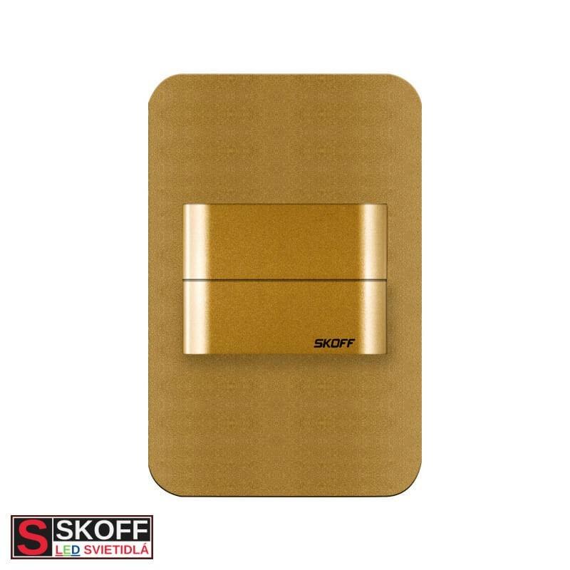 SKOFF DUO SALSA SHORT LED Svietidlo 1,6W 3000K MOSADZNÉ 10V/DC IP20