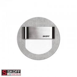 SKOFF RUEDA LED Svietidlo 0,8W MODRÁ NEREZ 10V/DC IP20