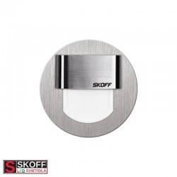 SKOFF RUEDA MINI LED Svietidlo 0,4W MODRÁ NEREZ 10V/DC IP20