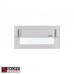 SKOFF TANGO MAX LED Svietidlo 1,6W 6500K HLINÍK 10V/DC IP20