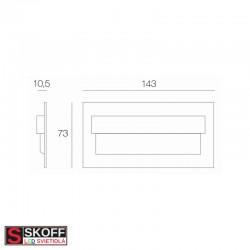 SKOFF TANGO MAX LED Svietidlo 1,6W 3000K HLINÍK 10V/DC IP20