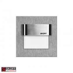 SKOFF TANGO LED Svietidlo 0,8W MODRÁ NEREZ 10V/DC IP20