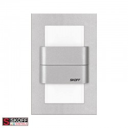 SKOFF KINKIET DUO TANGO LED Svietidlo 1,6W 6500K HLINÍK 10V/DC IP20