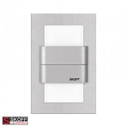 SKOFF DUO TANGO LED Svietidlo 1,6W 3000K HLINÍK 10V/DC IP20