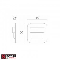 SKOFF SALSA MINI LED Svietidlo 0,4W 3000K MOSADZNÉ 10V/DC IP20