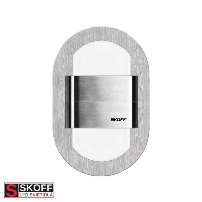 SKOFF DUO RUEDA LED Svietidlo 1,6W MODRÁ NEREZ 10V/DC IP20