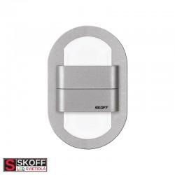 SKOFF DUO RUEDA LED Svietidlo 1,6W 3000K HLINÍK 10V/DC IP20