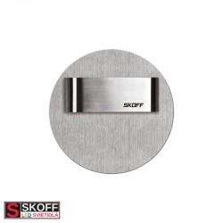 SKOFF RUEDA SHORT LED Svietidlo 0,8W MODRÁ NEREZ 10V/DC IP20
