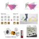 SKOFF TANGO SHORT Senzorové LED svietidlo 2,4W MODRÁ NEREZ 230V/AC PIR 120º IP20