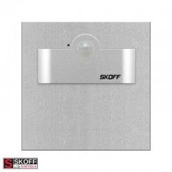 SKOFF TANGO SHORT Senzorové LED svietidlo 2,4W 6500K HLINÍK 230V/AC PIR 120º IP20