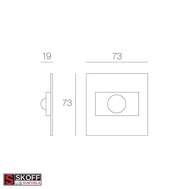 SKOFF RUMBA Prisadené svietidlo HLINÍK LED 0.8W MODRÁ 10V/DC IP20