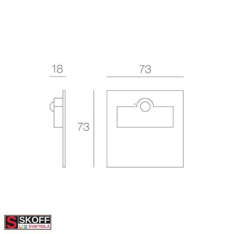 SKOFF RUEDA SHORT Vstavané svietidlo BIELE LED 0.8W MODRÁ 10V/DC IP66