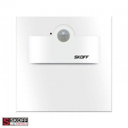 SKOFF TANGO SHORT Senzorové LED svietidlo 2,4W 6500K BIELE 230V/AC PIR 120º IP20
