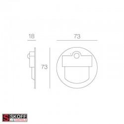 SKOFF RUEDA Senzorové LED svietidlo 2,4W MODRÁ NEREZ 230V/AC PIR 120º IP20