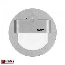 SKOFF RUEDA Senzorové LED svietidlo 2,4W 4000K HLINÍK 230V/AC PIR 120º IP20