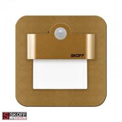 SKOFF SALSA Senzorové LED svietidlo 1,0W 3000K MOSADZNÉ 10V/DC PIR 120º IP20