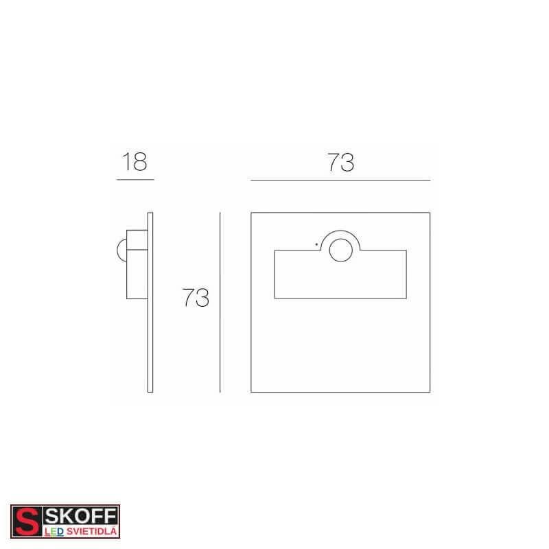 SKOFF RUEDA MINI Vstavané svietidlo BIELE LED 0.4W MODRÁ 10V/DC IP66