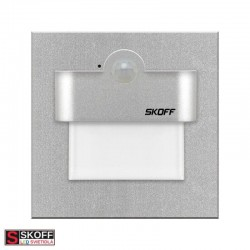 SKOFF RUEDA LED PIR MOTION SENSOR LIGHT Vstavané senzorové svietidlo NEREZ LED 2.4W 6000K 230V/AC IP20