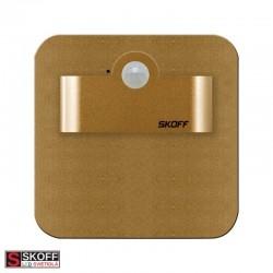 SKOFF SALSA SHORT Senzorové LED svietidlo 2,4W 4000K MOSADZNÉ 230V/AC PIR 120º IP20