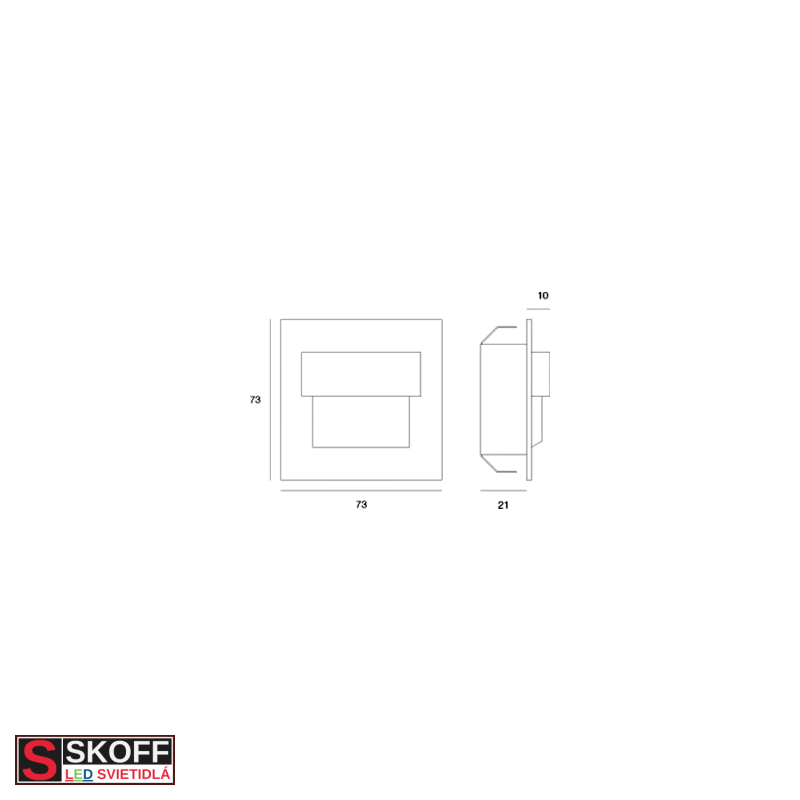 SKOFF TANGO MINI STICK SHORT Prisadené svietidlo HLINÍK LED 0.4W MODRÁ 10V/DC IP66