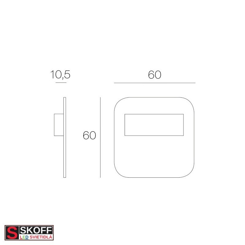 SKOFF TANGO MINI STICK SHORT Prisadené svietidlo BIELE LED 0.4W MODRÁ 10V/DC IP66