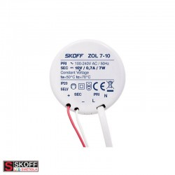 SKOFF LED Transformátor ZOL7 7W 100-240V/AC 10V/DC 50HZ 0,7A IP20