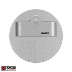SKOFF RUEDA SHORT Senzorové LED svietidlo 2,4W 4000K HLINÍK 230V/AC PIR 120º IP20