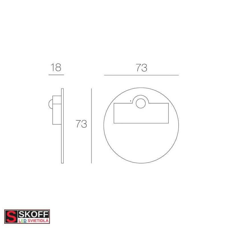 SKOFF TANGO MINI STICK Prisadené svietidlo BIELE LED 0.4W MODRÁ 10V/DC IP66