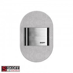 SKOFF DUO RUEDA SHORT LED Svietidlo 1,6W 6500K NEREZ 10V/DC IP66
