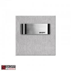 SKOFF TANGO SHORT LED Svietidlo 0,8W MODRÁ NEREZ 10V/DC IP66
